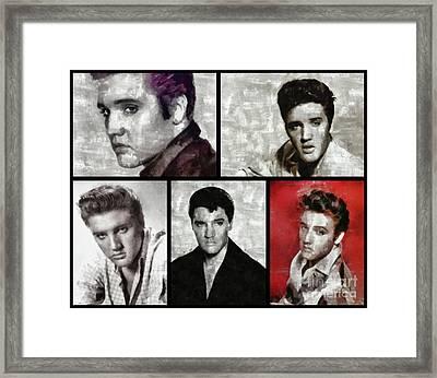 Elvis Presley, Singer Framed Print by Esoterica Art Agency