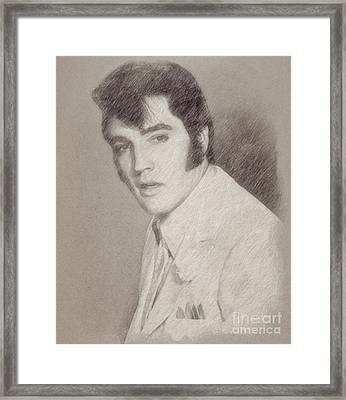 Elvis Presley, Singer Framed Print by Frank Falcon