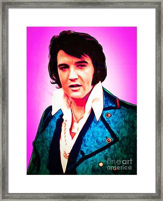Elvis Presley The King 20160117 Framed Print by Wingsdomain Art and Photography