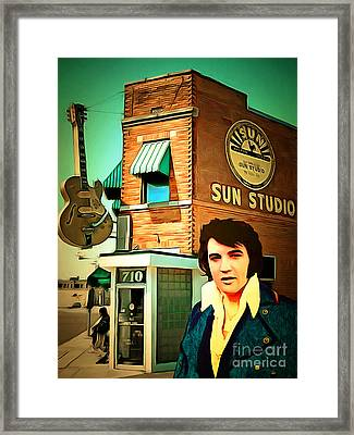 Elvis Presley The King At Sun Studio Memphis Tennessee 20160216 Framed Print by Wingsdomain Art and Photography
