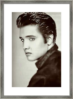 Elvis Presley The King Framed Print by Ian Gledhill