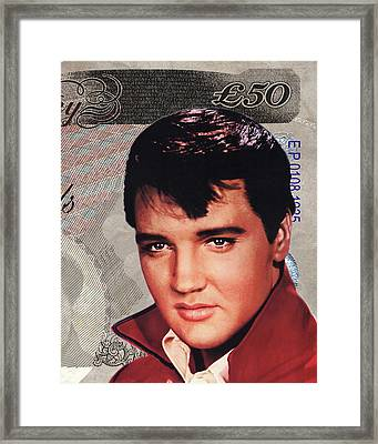 Elvis Presley Framed Print by Unknown