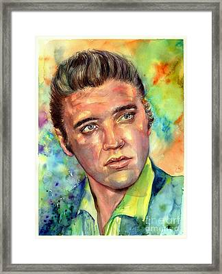 Elvis Presley Watercolor Framed Print