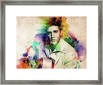 Elvis Presley With Guitar Framed Print
