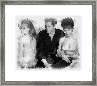 Elvis Presley With Ursula Andress And Elsa Cardenas In Fun In Acapulco Framed Print by Esoterica Art Agency
