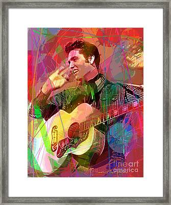 Elvis Rockabilly  Framed Print by David Lloyd Glover