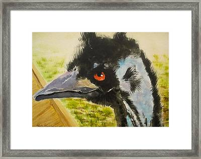 Elvis The Emu Framed Print