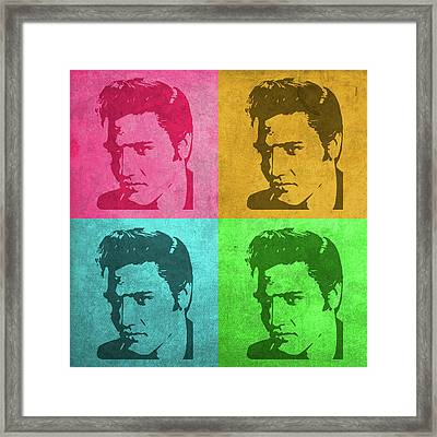 Elvis Vintage Pop Art Framed Print by Design Turnpike