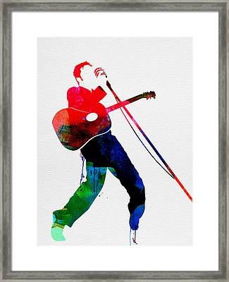 Elvis Watercolor Framed Print