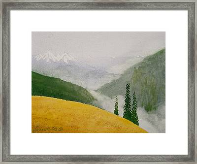 Elwa Mist Framed Print by Buster Dight
