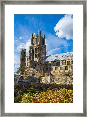 Ely Cathedral And Garden Framed Print