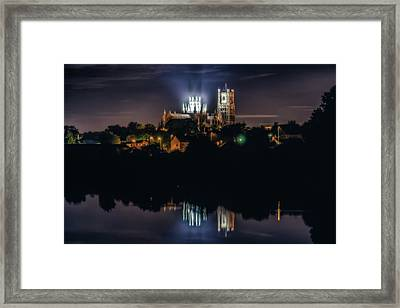 Ely Cathedral By Night Framed Print