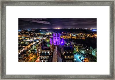 Ely Cathedral In Purple Framed Print
