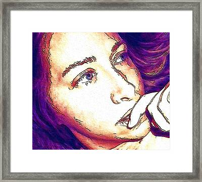 Framed Print featuring the digital art Ely by Ely Arsha