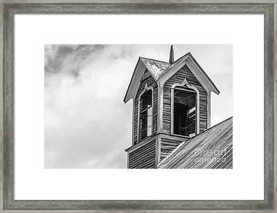 Ely Vermont Barn 1899 Barn Cupola Framed Print by Edward Fielding