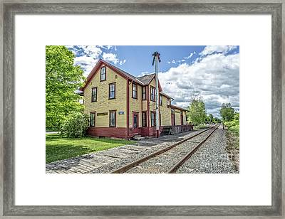 Ely Vermont Train Station Framed Print by Edward Fielding