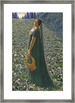 Elysian Fields Framed Print by Carlos Schwabe