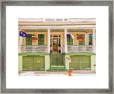 Elysian Fields Inn - Nola Framed Print by Kathleen K Parker