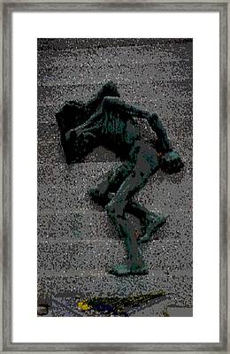 Emaciated Jew Sculpture Framed Print