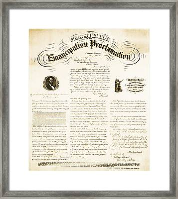 Emancipation Proclamation Framed Print