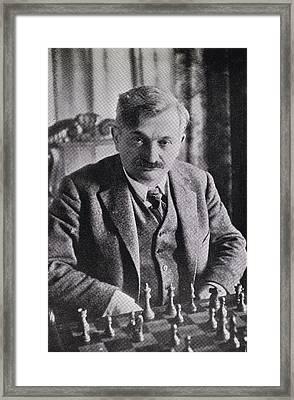 Emanuel Lasker 1868   1941 German Chess Framed Print