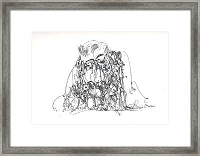 Embedded In Rock Framed Print by Padamvir Singh