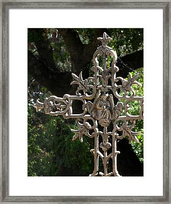 Embellished Cross Framed Print