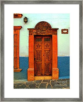 Embellished Puerta Framed Print by Mexicolors Art Photography