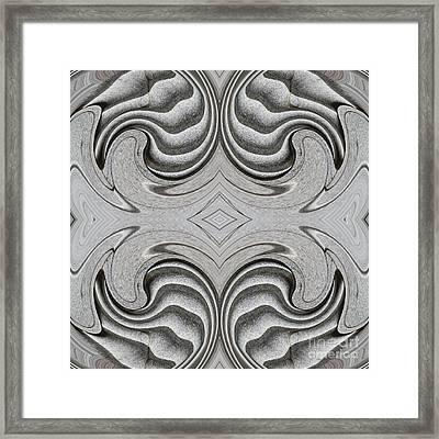 Embellishment In Concrete  4 Framed Print by Sarah Loft