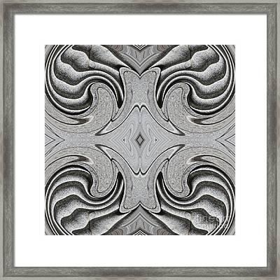 Embellishment In Concrete 6 Framed Print by Sarah Loft