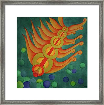 Framed Print featuring the painting Embellishments II by Paul Amaranto