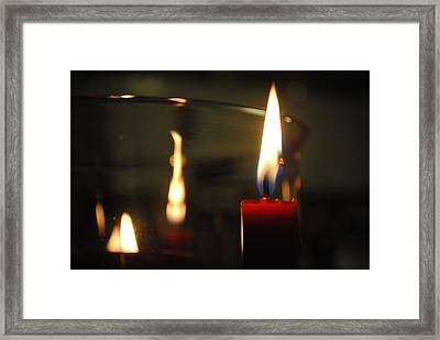 Candlelight Framed Print by Giuseppe Puglisi