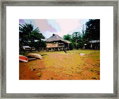 Embera Simple Way. Framed Print by Nereida Slesarchik Cedeno Wilcoxon