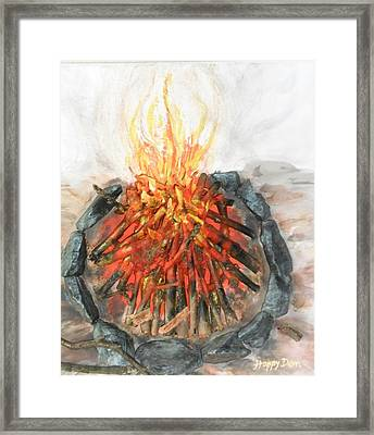 Embers And Flames - Paint Framed Print