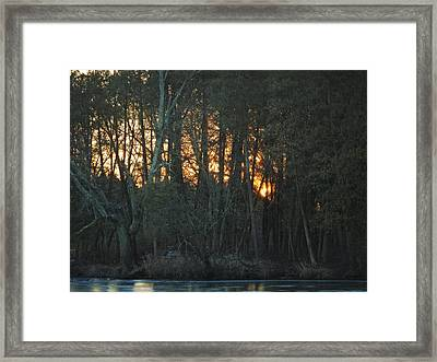 Embers Of The Waking Sun Framed Print