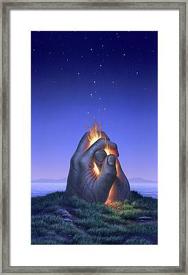 Embers Turn To Stars Framed Print by Jerry LoFaro