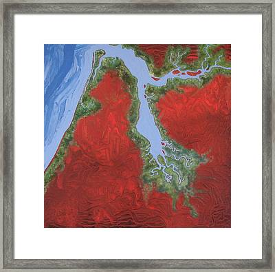 Embly And Hay Rivers Framed Print