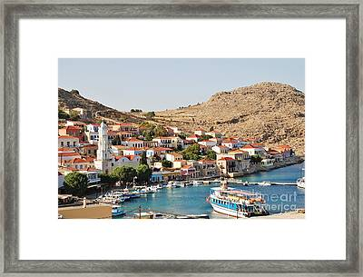 Emborio Village On Halki Framed Print