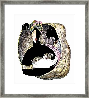 Embrace Framed Print by Albert and Simone Fennell