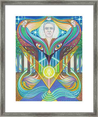 Embraced By The Muse Framed Print