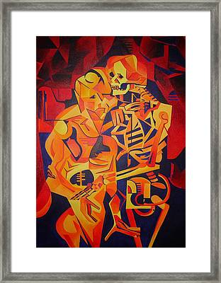Embracing Death Framed Print