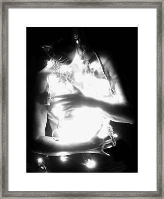 Embracing Light - Self Portrait Framed Print by Jaeda DeWalt