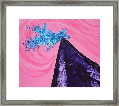 Embracing The Flow Framed Print