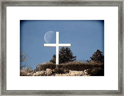 Embracing The Moon Framed Print