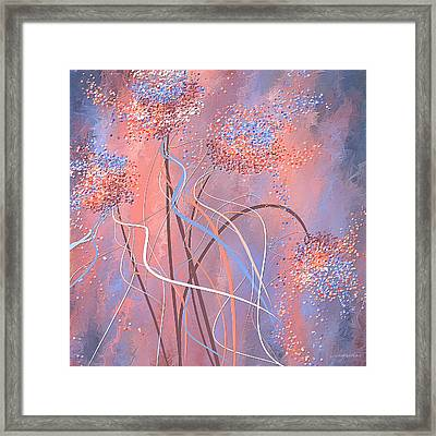 Embracing Tranquility - Rose Quartz And Serenity Art Framed Print by Lourry Legarde
