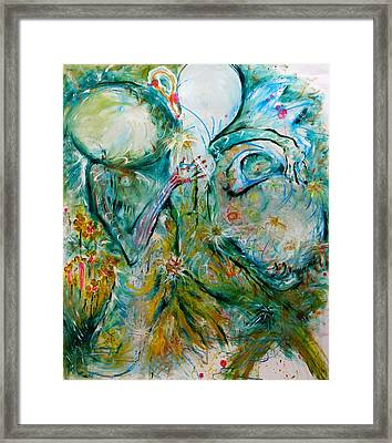 Embrassemoi Framed Print by Contemporary Art By PEARSE