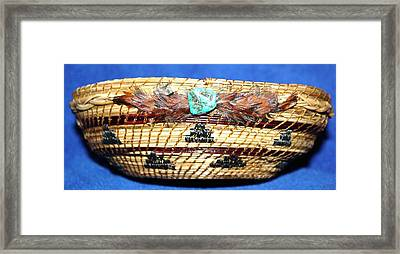 Embroidered Bowl With Braided Sides Framed Print