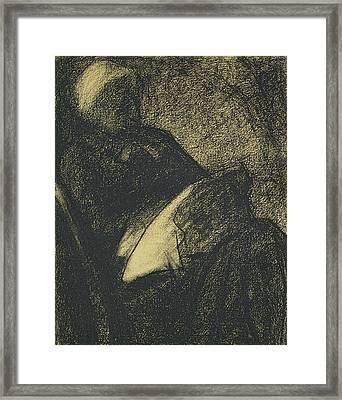 Embroiderer Framed Print