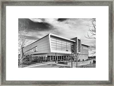 Embry Riddle University Hazy Library Framed Print