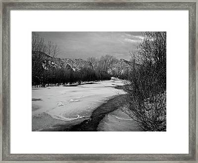 Embudo In Winter Framed Print
